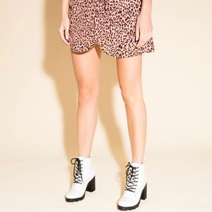 White patent ankle bootie